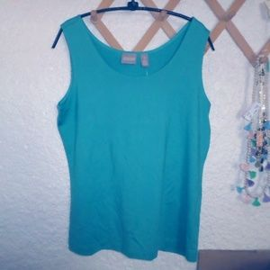 CHICO'S MICROFEEL TIMELESS TANK CHICO'S 1 S/M REEF